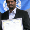 Hussein ZamZame receives recognition for promoting peace in the community